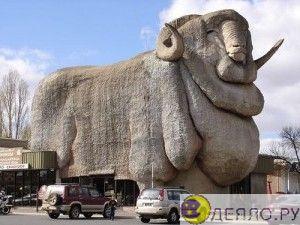Музей породы овец меринос Новом Южном Уэльсе мериносов (The Big Merino), построен в 1985 год