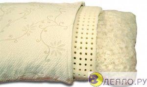 Латексная подушка для сна внутри